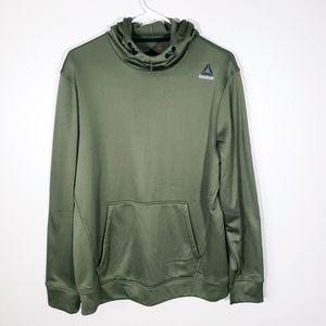 Mens Reebok Hunter Green PullOver Textured Hoodie